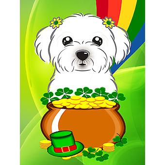 Maltese St. Patrick's Day Flag Canvas House Size BB1952CHF