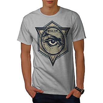Vigilem Secret Gang Illuminati hommes gris T-shirt | Wellcoda