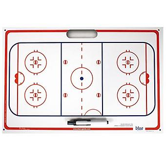 Blue sport tactic board with suction cups 40 x 60 cm