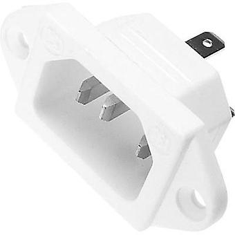 IEC connector C14 ATT.LOV.SERIES_POWERCONNECTORS 781 Plug, vertical mount Total number of pins: 2 + PE 10 A White Kaiser