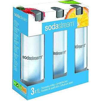 Sodastream PET Sprudlerflasche 3-pack voor Soda Maker Cool Clear, Grey 1041342490