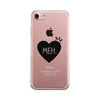 Heart Meh Transparent Phone Case Cute Clear Phonecase For Girls