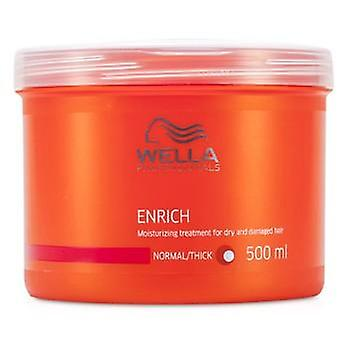 Wella Enrich Moisturizing Treatment For Dry & Damaged Hair (Normal/ Thick) - 500ml/16.7oz