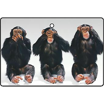 The Three Wise Monkeys Car Air Freshener