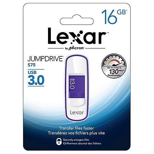 Lexar 16GB JUMPDRIVE S75 USB 3.0 Flash Drive- Purple - LJDS75-16GABEU
