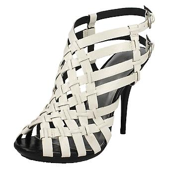 Ladies Spot On High Heeled Strappy Sandals