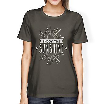 Наслаждайтесь солнцем милый графического Tshirt для женщин легкого хлопка