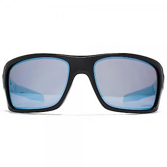 Oakley Turbine Sunglasses In Polished Black Prism Deep H20 Polarised