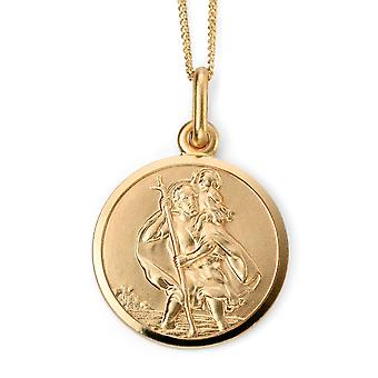 9 ct Gold St. Christopher Necklace