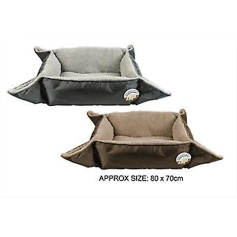 Dog Bed Pet Mat 2 in 1 Sherpa Fleece Soft Comfy Fold Out Durable Cushion Cat