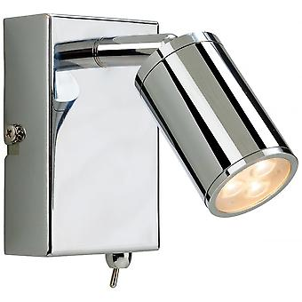 Firstlight Modern Chrome LED Wall Light With Switch