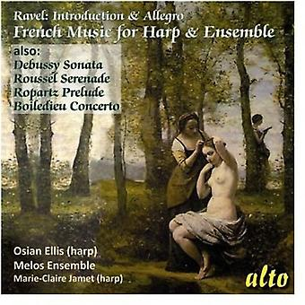 Ellis, Osian/Melos Ensemble - French Chamber Music for Harp & Ensembl [CD] USA import