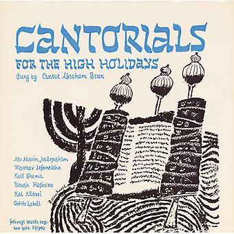 Abraham Brun - Cantorials för hög semester: Roshashona & Yom [CD] USA import