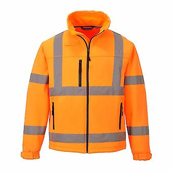 Portwest - Hi-Vis Safety Workwear Classic Softshell Jacket (3L) Zip Off Sleeves