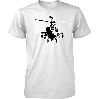 Apache Helicopter Stencil - Awesome Military Chopper - Mens T Shirt