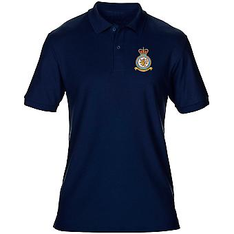 Wittering RAF Station broderad Logo - officiell Royal Air Force Mens Polo Shirt