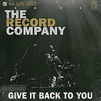 Record Company - Give It Back to You [Vinyl] USA import