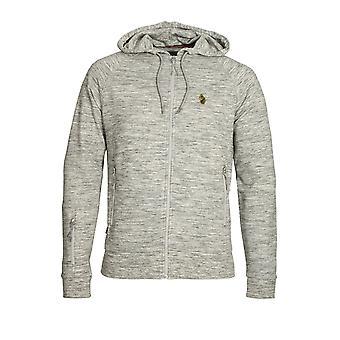 Luke Sport Grey Marl Hoodie Top