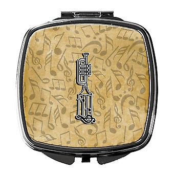 Letter I Musical Instrument Alphabet Compact Mirror