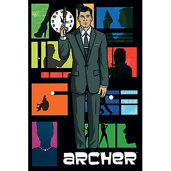 Archer Collage Poster Poster Print