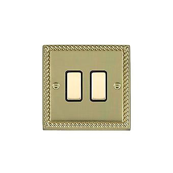 Hamilton Litestat Cheriton Georgian Polished Brass 2g 250W M-Way Touch Mast PB/BL
