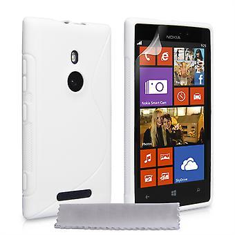 Caseflex Nokia Lumia 925 S-Line Gel Case - White