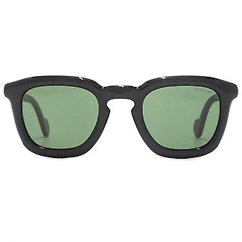 Moncler Mr Moncler Sunglasses In Shiny Black