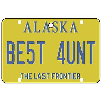 Alaska - Best Aunt License Plate Car Air Freshener