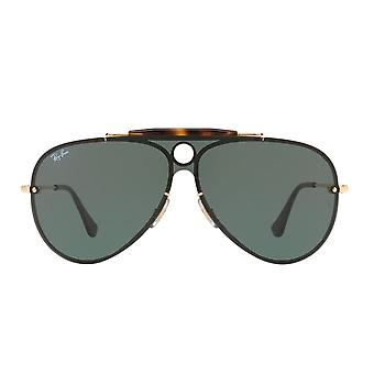 Ray Ban Sunglasses 0rb3581n 001/71 32 Gold And Green Blaze Shooter Unisex Sunglasses