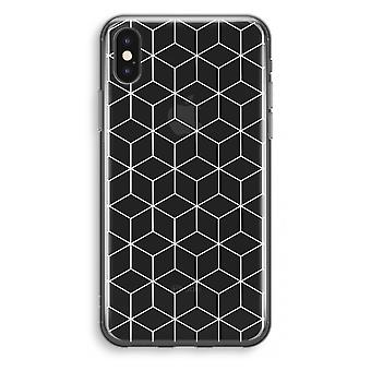iPhone X Transparant Case - Cubes black and white