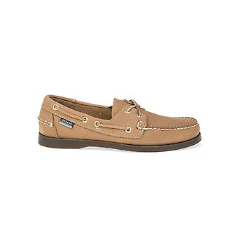 Sebago men's B72709EARTH beige leather moccasins