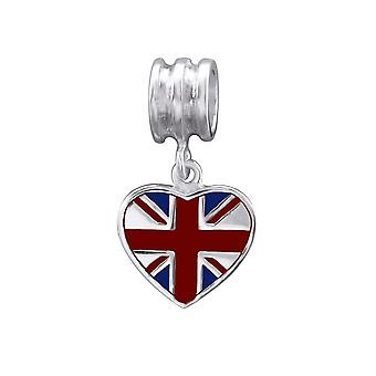 Britse vlag - 925 Sterling Zilver platte parels - W29522X
