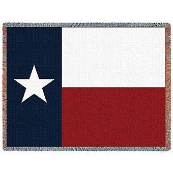 Texas State flagga vävt Jacquard kasta filt Afghan