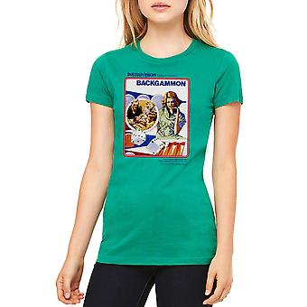 Intellivision Backgammon Classic Game Women's Kelly Green T-shirt