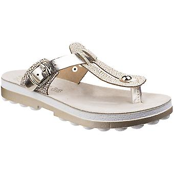 Fantasy Womens/Ladies Mirabella Buckle Up Flip Flop Summer Sandals