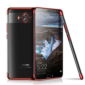 Cell phone cover case voor Huawei mate 10 transparante transparant rood
