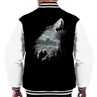 Game Of Thrones King Of The North Wolf Collage Men's Varsity Jacket