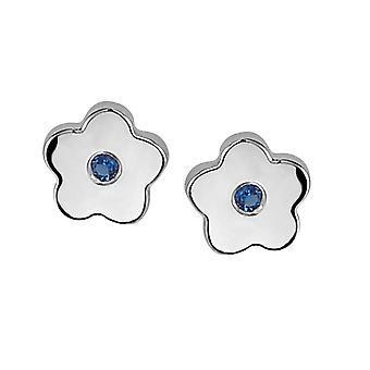 Orphelia argent 925 enfants boucle d'oreille fleur bleu Zirc ZO-6070