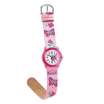 Harcerz dziecko zegarek, nauka Crystal - różowy dziewcząt oglądania 280305013