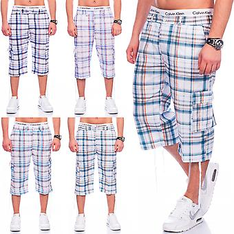 Mens Cargoshorts Plaid shorts Bermuda sports stretch stretchy diamonds summer