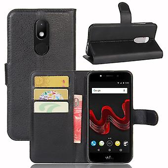 Pocket wallet premium black-to WIKO Wim Lite protection sleeve case cover pouch new
