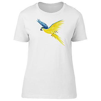 Blue Yellow Ara Ararauna Macaw Tee Women's -Image by Shutterstock