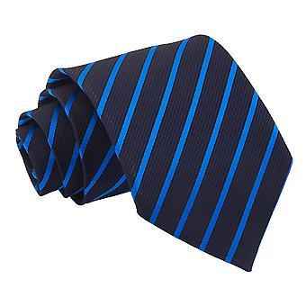 Marinha & meados clássico gravata azul listra única