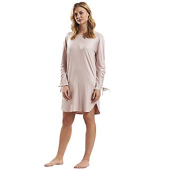 Feraud 3181242-11895 Women's Casual Chic Shine Rose Pink Solid Colour Night Gown Loungewear Nightdress