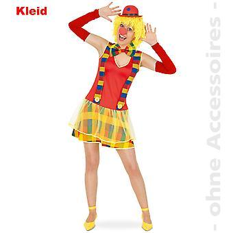 Costume de clown Lady Clownkleid Clownette fou fou Mesdames costume
