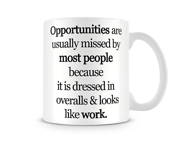 Opportunities Printed Mug