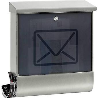 Letterbox Burg Wächter 65300 Lucenta 2700 Ni Stainless steel Stainless steel Key