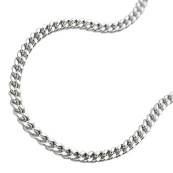 Belly bikini chain curb chain body chain 925 Silver diamond 90 cm