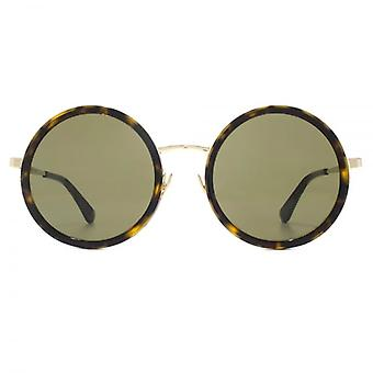 Saint Laurent SL 136 Combi Sunglasses In Havana Gold