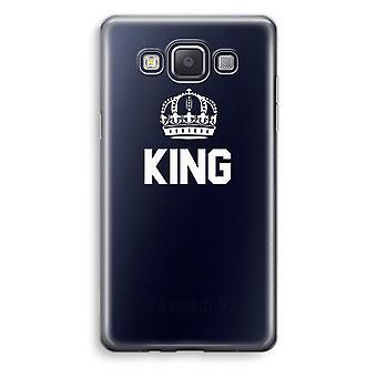 Samsung Galaxy A3 (2015) Transparent Case (Soft) - King black